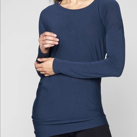 515aa8a1 Athleta Threadlight Asym Relaxed Long Sleeve | XXS